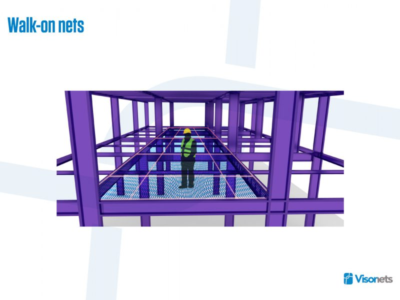 Protective net – Walk-on net system VISORNETS