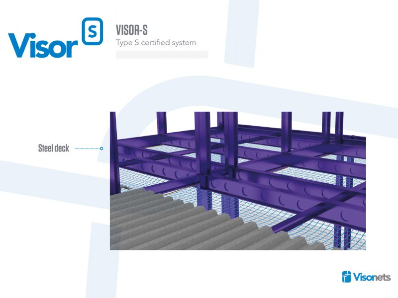 Safety Net Type S – Steel Decking – VISOR-S