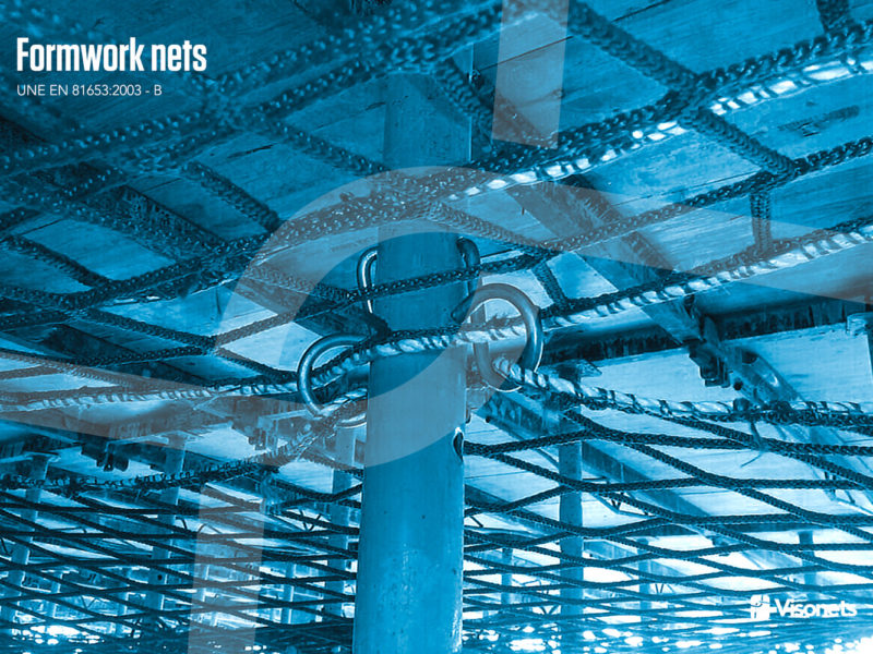 Filets de protection – Système certifié filet de sécurité sous plancher – UNE EN 816522013-B – Visornets – 04