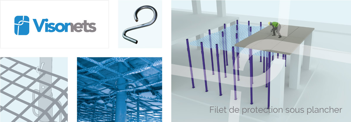 Filet de Protection sous Plancher - VISORNETS - Visor Fall Arrest Nets