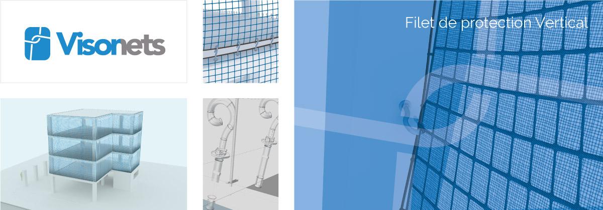 Filet de Protection Vertical - VISORNETS - Visor Fall Arrest Nets